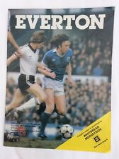 Everton v Stoke city  League Division One March 1980