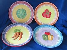 Jc Penny Home Collection Set of Four (4) Vegetable Plates