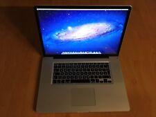 Macbook Pro 17 early 2011 i7 8GB RAM 500+250GB SSD