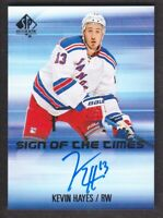 2015-16 SP Authentic Sign of the Times #KH Kevin Hayes Auto New York Rangers
