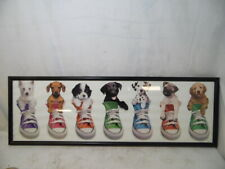 """Keith Kimberlin Puppies in Shoes Sneakers Picture Framed Art Poster Print 36"""""""