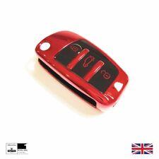 Red Chrome TPU Key Cover For Audi Flip Key A1 A2 A3 A4 A6 A7 A8 TT Q3