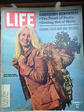 Life Magazine December 11, 1970 : Cover - Organic food : new and natural, model