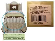 Tiddliwinks Madagascar Twin Comforter - Sweet Pea Green / Brown / White Striped