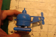 1984 McDonalds HELICOPTER HAMBURGER BLUE, neat put together toy