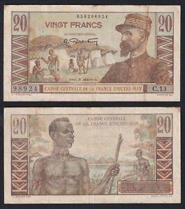 Caisse Centrale de la france d'Outre Mer 20 francs 1947 BB/VF  A-01