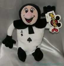 "NEW 90s Disney Parks Plush Beanie 8.5"" ALICE WONDERLAND Black Card ACE of SPADES"