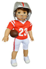 Red and White Football Outfit for American Girl Boy Dolls