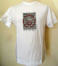 Crew Neck T-Shirt Mens Cotton White Sizes S M XL Duck and Cover
