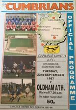 Carlisle United v Oldham Athletic (Littlewoods Cup second Round First Leg) 1987-