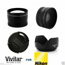 4k WIDE ANGLE LENS + MACRO + HD ZOOM LENS +LENS HOOD FOR NIKON COOLPIX P1000