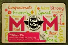 New Unused Steak N Shake Happy Mothers Day,w/Flower Seeds Gift Card No $ Value