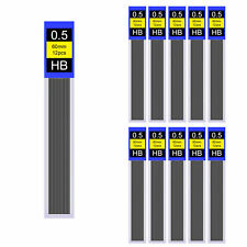 240Pcs 20 Tubes HB Black Lead Refills 0.5mm Case For Automatic Mechanical Pencil