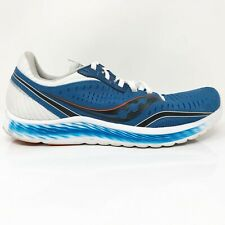 Saucony Mens Kinvara 11 S20551-25 Blue White Running Shoes Lace Up Size 9.5