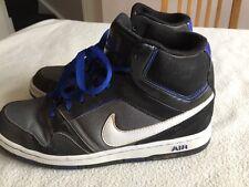 Para Hombre Negro Azul Nike Alta Top de Superdry Size UK 7