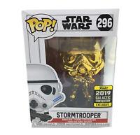 Funko POP! Star Wars Gold Stormtrooper Vinyl Figure #296 Brand New