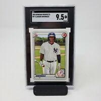SGC 9.5 JASSON DOMINGUEZ 2020 Bowman Paper Yankees Rookie Card RC COMP PSA / BGS