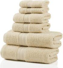 Long Staple Cotton Towel Set 700 Gsm 2 Bath Towel, 2 Hand, 2 Washcloths Ivory