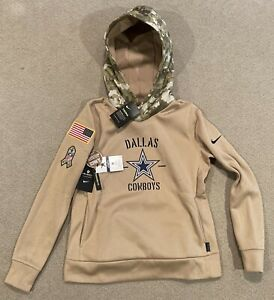 Nike Dallas Cowboys Womens Size 2XL Salute To Service Therma Pull-over Hoodie