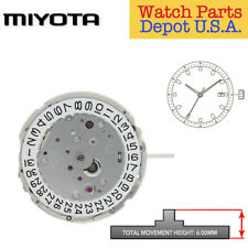 Original Miyota 9015 Japan Automatic 24 Jewel Movement, 3 Hands, Date at 3 - NEW