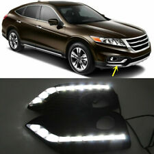 2x for Honda Crosstour 2013-15 White LED Light Daytime Running Light Lamp Cover