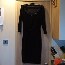 Precis Petite Back Velvet and Jeweled  Dress Size 8