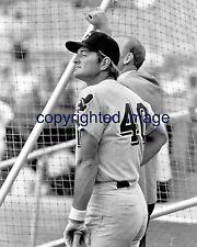 Ken Hawk Harrelson  Cleveland Indians 1969-71 Red Sox   8x10 B+W E