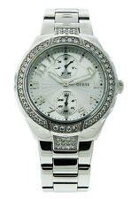 Guess Steel W12609L1 Women's Multi Dial Silver Tone & Clear Stone Analog Watch