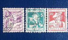 1917-Svizzera-Pro Juventute- serie completa usata