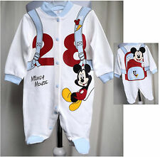Mickey Mause Baby Jungen Langarm Overall Strampler Jumpsuit Gr. 68 /088/