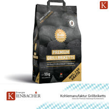 ✅ 10kg Kohlemanufaktur Premium Grill Briketts Kohle BBQ Brikett 4,5h Glutdauer ✅
