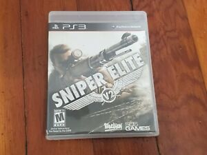 Play Station 3 Sniper Elite V2 Video Game Manual Case PS3 Pre-Owned Tested