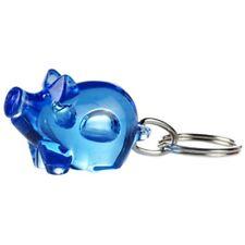 Gadget portachiavi forma di porcellino 'sorridente' x macellaio salumeria BLU T