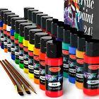 Acrylic Paint Set of 24 Colors 2fl oz 60ml Bottles Adults Artists Canvas