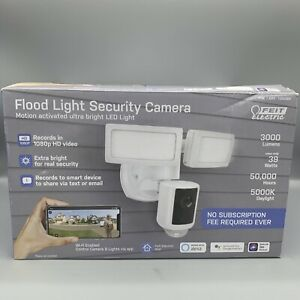 Feit Electric - Security Light And Camera - LED Dual Head - Motion Sensor - Good