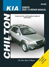 Chilton Workshop Manual Kia Sorento 2003-2013 NEW Service & Repair