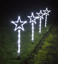 set of 4 by 30cm outdoor star pathway christmas decoration lights - Christmas Star Lights Outdoor