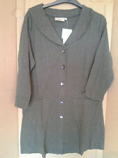 3/4 Sleeve No Pattern Collared Jumpers & Cardigans for Women