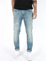 Nudie Herren Skinny Fit Röhren Jeans Hose | Tape TedStrikey Green | W31 L34