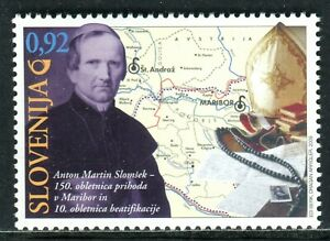 742 - SLOVENIA 2009 - Anton Martin Slomsek - Bishop - Poet - Map - MNH Set