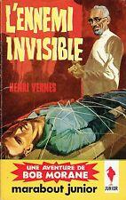 154.  BOB MORANE.  L'ENNEMI INVISIBLE.   Henri Vernes. 1959.