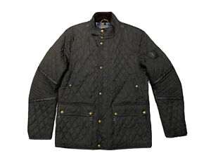 Mens Belstaff Brown Quilted Jacket Size XXLarge