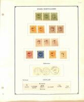 AVO ! [1098] FOURNIER faux forgery Portuguese India Crown + Ceylan GB overprint