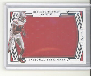 Michael Thomas 1/1 jersey card 2020 National Treasures NM Saints Ohio State