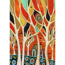 """Creative Trees Birds And House Garden Flags Yard House Decor Flag Banner 28x40"""""""