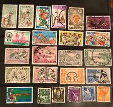 Nigeria postage stamps lot of 24 old                       Ju