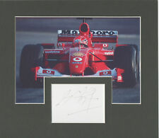 MICHAEL SCHUMACHER Signed 9x8 Photo Display FORMULA 1 World Champion COA