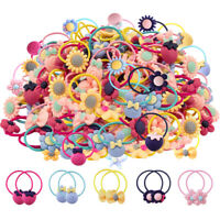 100pcs Baby Girl's Elastic Hair Ties Soft Rubber Bands Hair Bands for Baby Girls