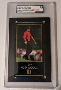 1998 Champions of Golf Tiger Woods The Master Collection Rookie PRO 9 MINT