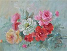 Gouache Bouquet de Roses Maurice Richard Référencé
